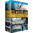 Coffret 4 films : Contagion + Geostorm + San Andreas + Into the Storm